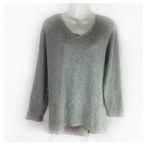 J JILL | tunic Pure Jill gray jersey knit M